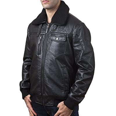 A.K. Collection Men's Faux-Leather Moto Jacket - Available in Many Styles at Amazon Men's Clothing store