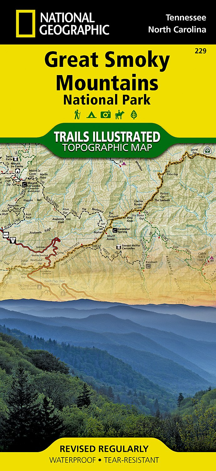 Great Smoky Mountains National Park National Geographic Trails Ilrated Map National Geographic Maps Trails Ilrated 0749717012295 Amazon Com