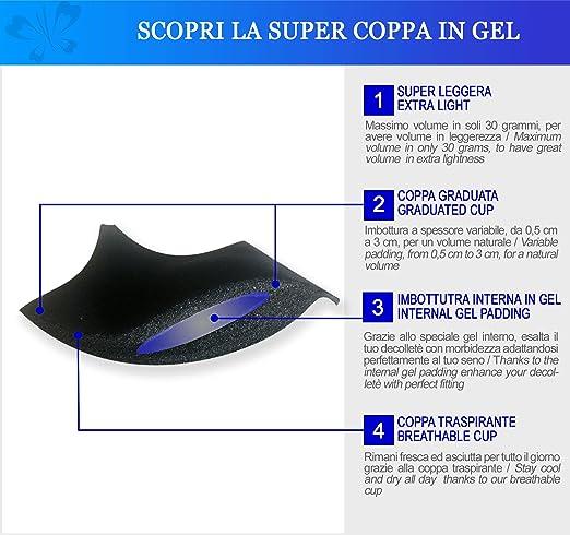 Lady Bella Lingerie Miracle 2 - Sujetador con Relleno Copa de Gel Dos Tallas más Tirantes Ajustables de Quita y Pon: Amazon.es: Ropa y accesorios