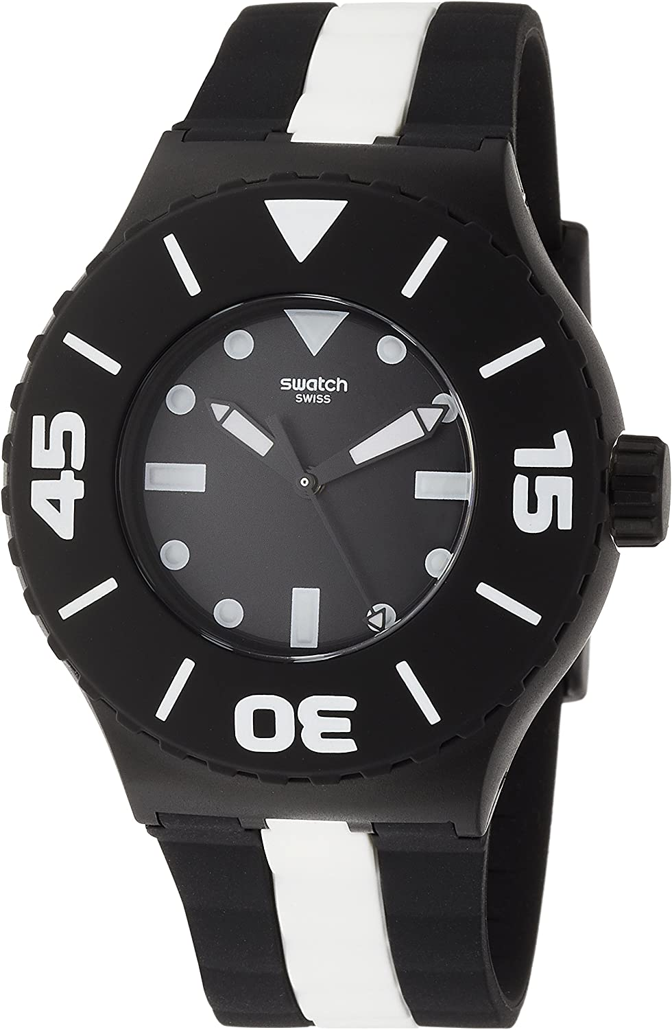 Swatch Scuba Libre Black Dial Mens Sports Watch SUUB102