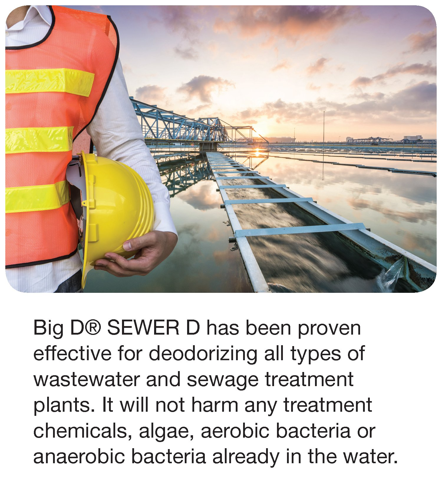 Big D 5597 Sewer D Deodorant for Water Treatment and Sewage Disposal Plants, Natural Fragrance, 5 Gallon Pail - Kills Odors, Non-Flammable, Non-Toxic, Will not Change Properties of Water by Big D (Image #4)