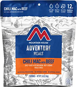 Mountain House Chili Mac with Beef | Freeze Dried Backpacking & Camping Food | 2-Servings