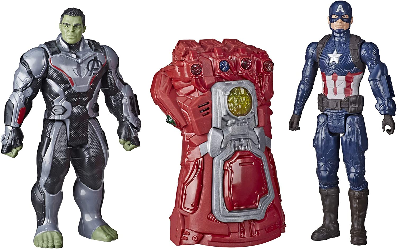 Marvel Avengers: Endgame - Titan Heroes Series and Gauntlet Pack (Red - Hulk and Captain America)