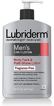 3-Count Lubriderm 16 Fl. Oz. Men's 3-In-1 Fragrance Free Lotion
