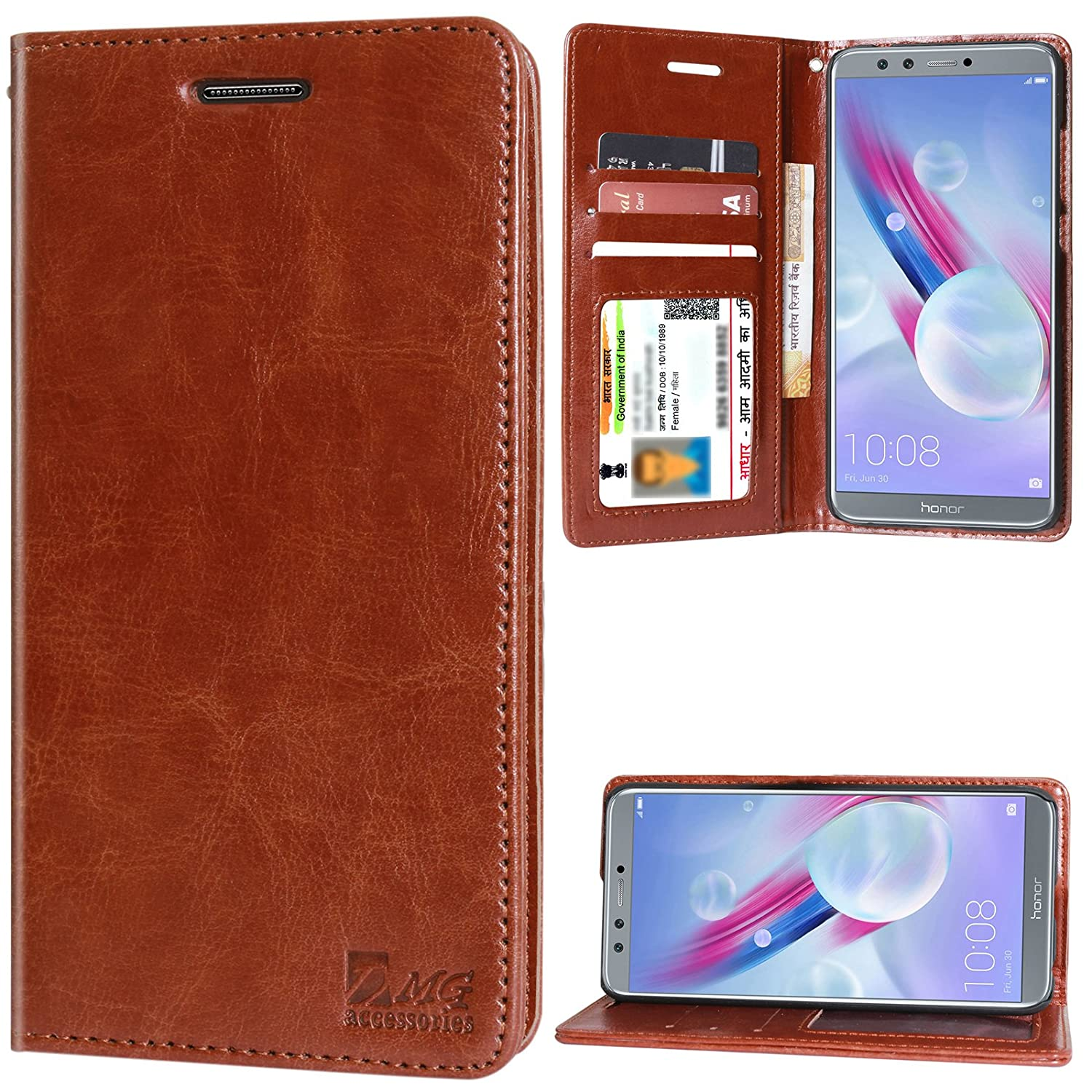 a36561b1099282 DMG Premium Leather Wallet Flip Cover Stand Case for  Amazon.in  Electronics