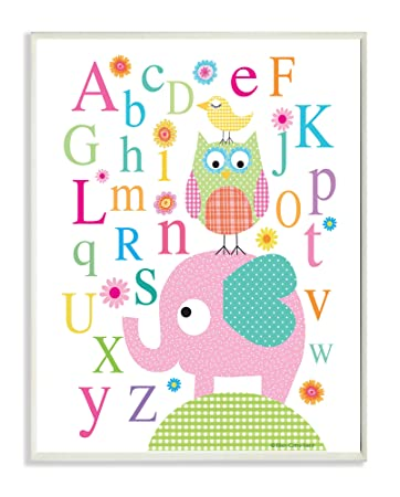 and Squirrel in A Tree Rectangle Wall Plaque Birds 11 x 0.5 x 15 The Kids Room by Stupell Owls Proudly Made in USA