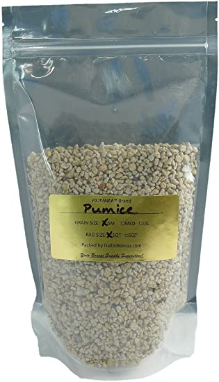 Dallas Bonsai Pumice Small Grain For Bonsai Soil Mix U0026 Cactus, 1 Quart