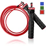 Ballistyx Jump Rope With Adjustable Speed Cable & Contoured Ball Bearing Handles - Best For Exercising, Boxing & MMA, Home Fitness & Sports Training