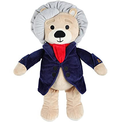 Vosego Ludwig Van Beethoven Virtuoso Bear | 40 mins Classical Music for  Babies | 15″ Award Winning Musical Soft Toy | Educational Toy for Infants