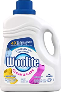 Woolite Gentle Cycle Liquid Laundry Detergent, 66 Loads, Regular & HE Washers, Sparkling Falls Scent (Pack of 2)