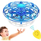 GALOPAR UFO Drone Toys for Kids, Hand Operated Flying Drone for Kids Gifts, USB Rechargeable with 360°Rotating, LED…