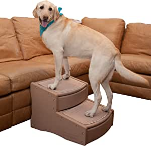 Pet Gear Easy Step II Extra Wide Pet Stairs, 2-Step/for Cats and Dogs up to 200-pounds, Tan