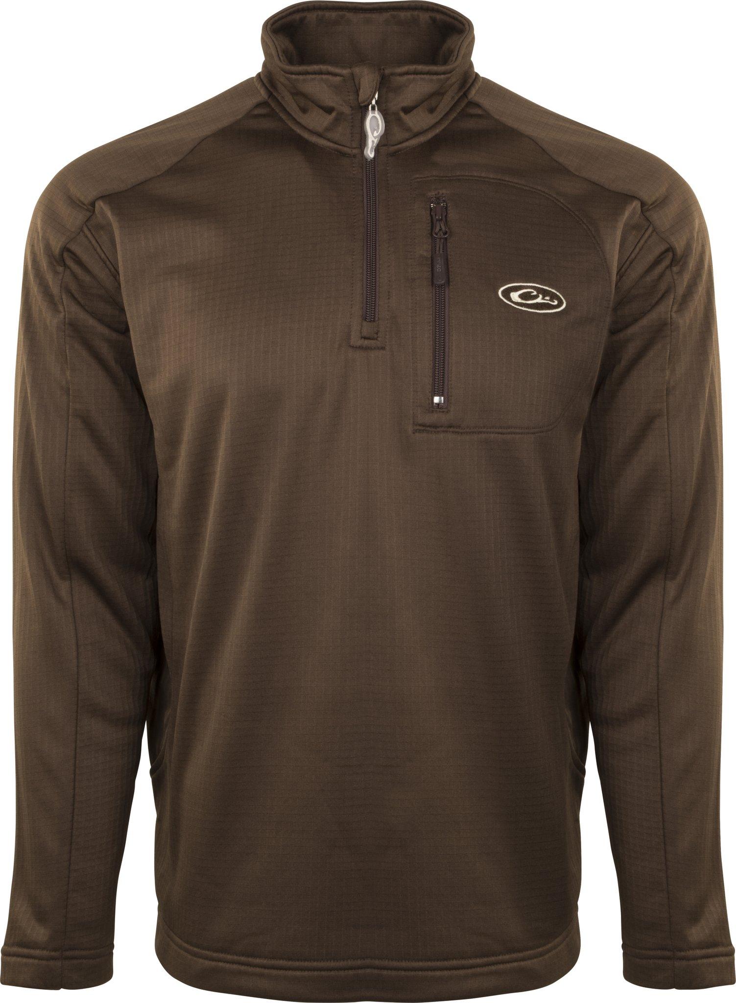 Drake Breathlite 1/4 Zip Brown Jacket, Large