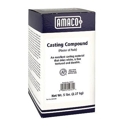 AMACO Plaster of Paris Casting Compound, 5 Lb Box, White: Home & Kitchen