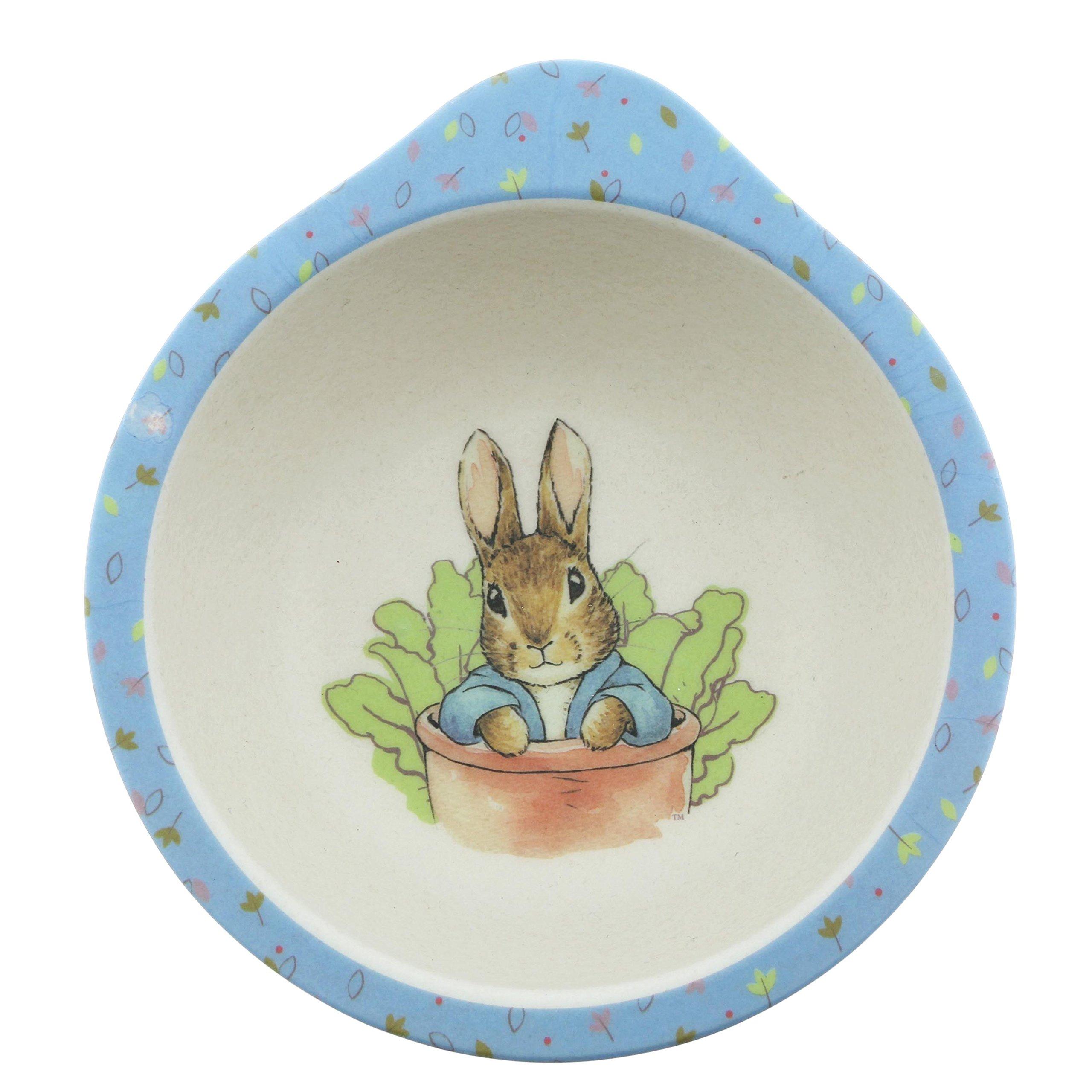 Beatrix Potter Peter Rabbit Featuring Peter Organic Bowl Made from Bamboo Height: 5.0cm Width: 12.5cm Depth: 12.5cm