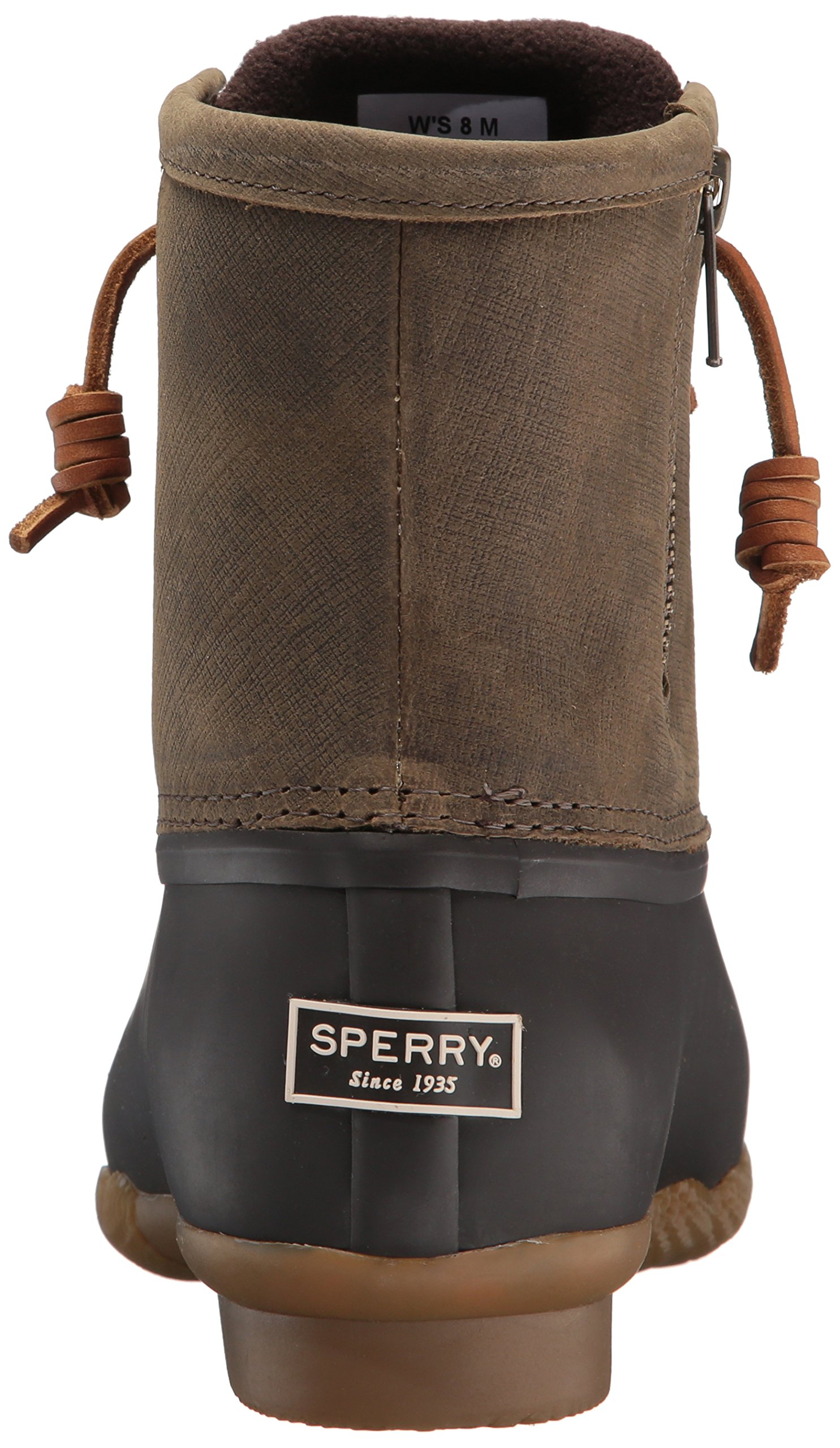 Sperry Top-Sider Women's Saltwater Rain Boot, Brown/Olive, 11 Medium US by Sperry Top-Sider (Image #2)
