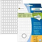 Herma 10600 Étiquettes universelles amovibles/movables 8 x 12 mm 3840 pièces Blanc