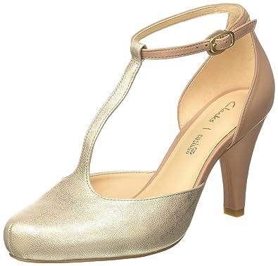 der Verkauf von Schuhen überlegene Materialien stabile Qualität Clarks Women's Dalia Tulip T-Bar Pumps