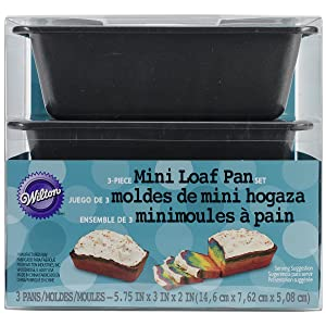 Wilton Non-Stick Mini Loaf Pan Set, 3-Piece