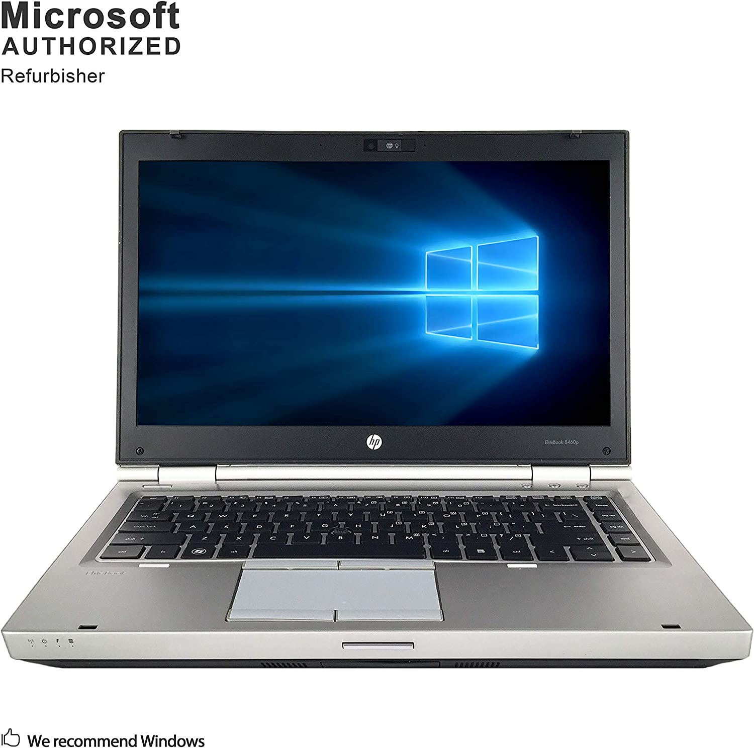 HP EliteBook 8460p 14 Inch Business Laptop, Intel Core i5 2410M up to 2.9GHz, 4G DDR3, 500G, WiFi, DVDRW, VGA, DP, Windows 10 64 Bit Multi-Language Supports English/French/Spanish(Renewed)