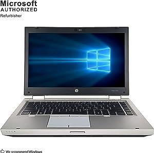 HP EliteBook 8460p 14 Inch Business Laptop, Intel Core i5 2410M up to 2.9GHz, 4G DDR3, 128G SSD, WiFi, DVDRW, VGA, DP, Windows 10 64 Bit Multi-Language Supports English/French/Spanish(Renewed)