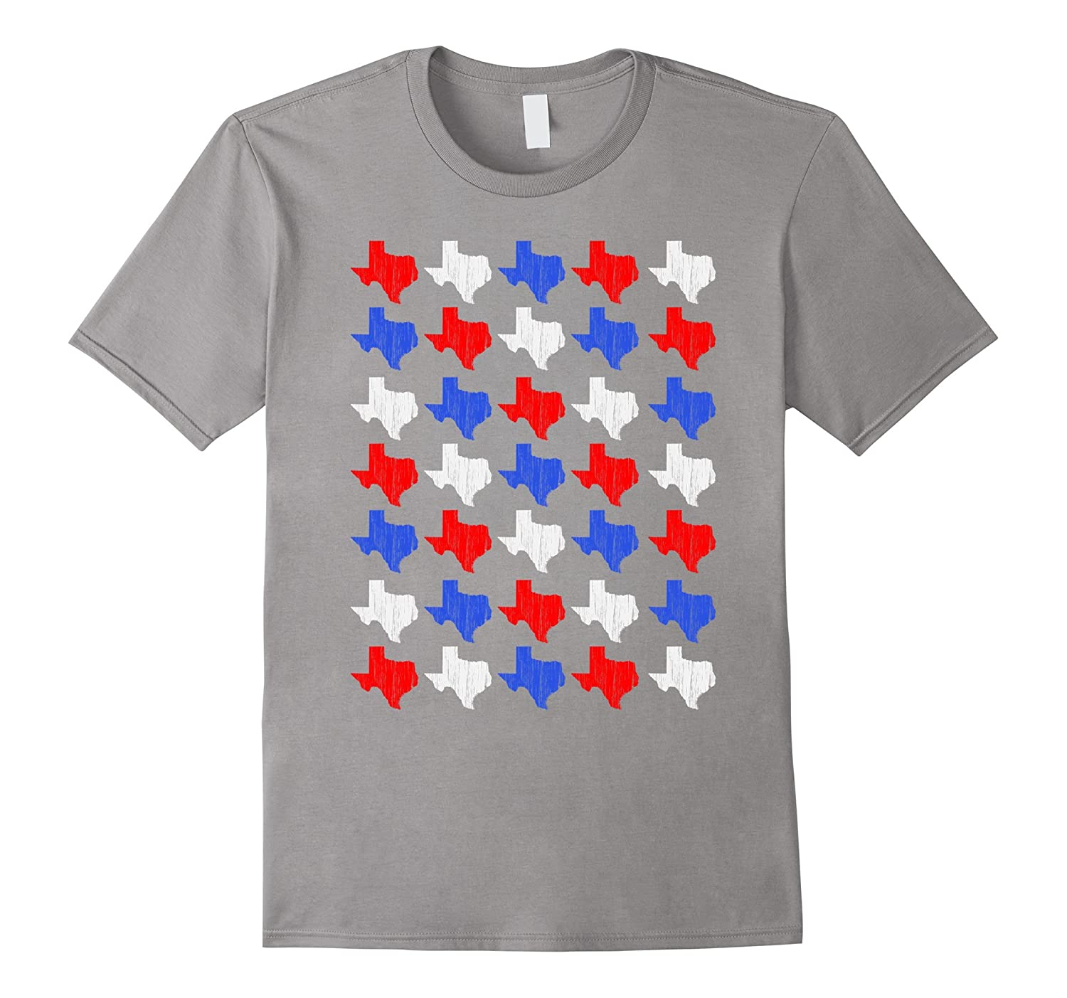 4th of July Independence Day Distressed Texas Outline Tshirt-TH