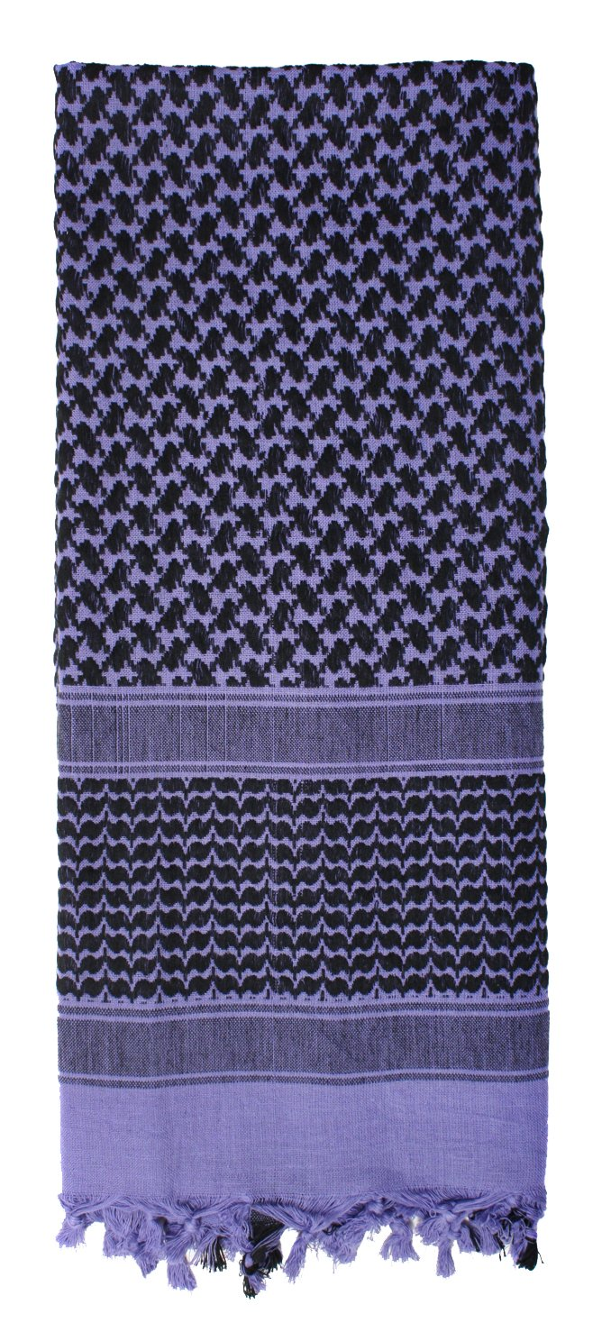 Rothco Shemagh Tactical Desert Scarf, PURPLE Size