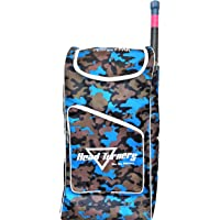 HeadTurners Duffle Cricket Kit Bag Individual Style- Kit Bag only-Camo Design (Blue)