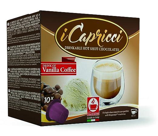 Caffe Bonini Hot Chocolate Nespresso Compatible Gourmet Capsules, for Original Line Nespresso Machine, 50 Count (Caffe Vaniglia - Vanilla Coffee)