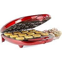 Andrew James - Großer Donut Maker In Rot Für 12 Donuts – 2 Jahre Garantie
