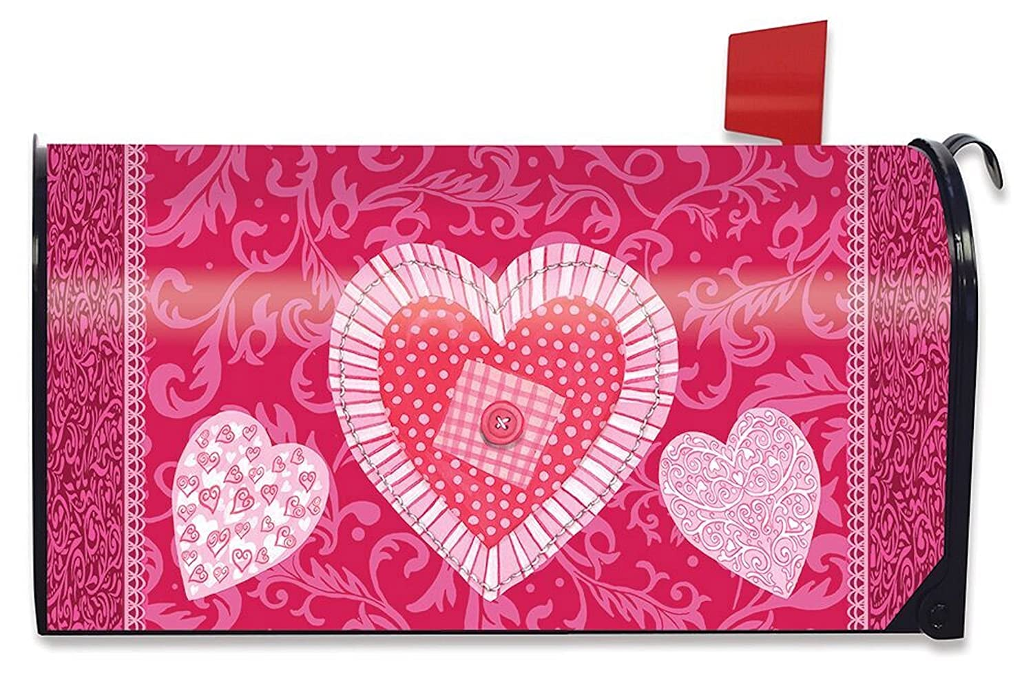Patchwork Valentine's Day Mailbox Cover