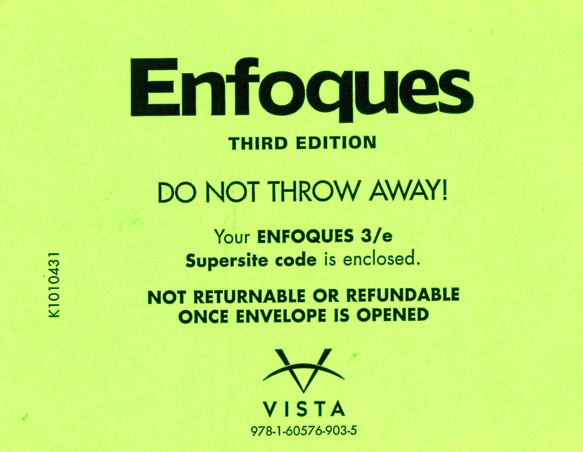 Enfoques, 3rd edition, student edition (book & supersite access.