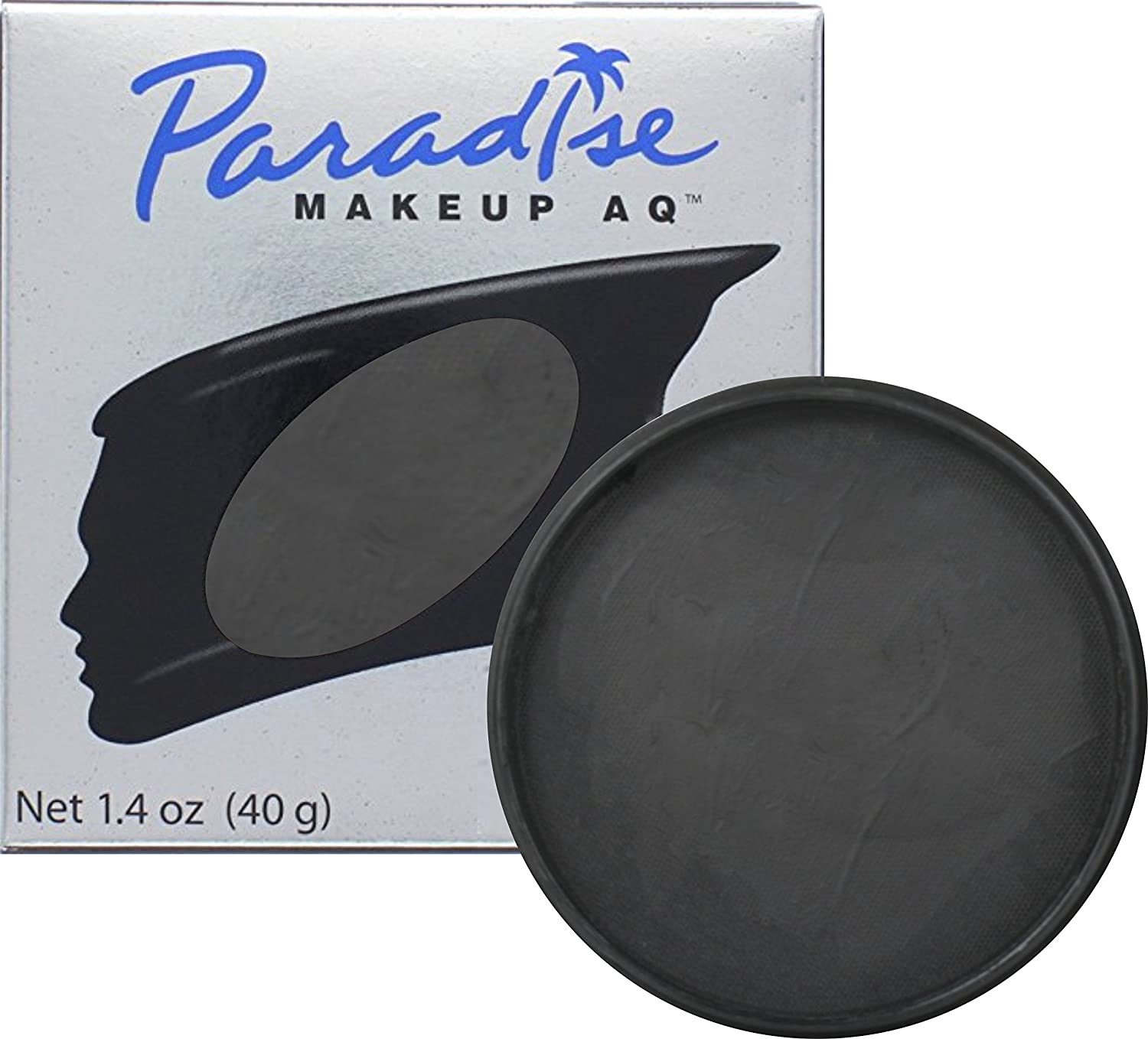 Mehron Makeup Paradise AQ Face & Body Paint, BLACK