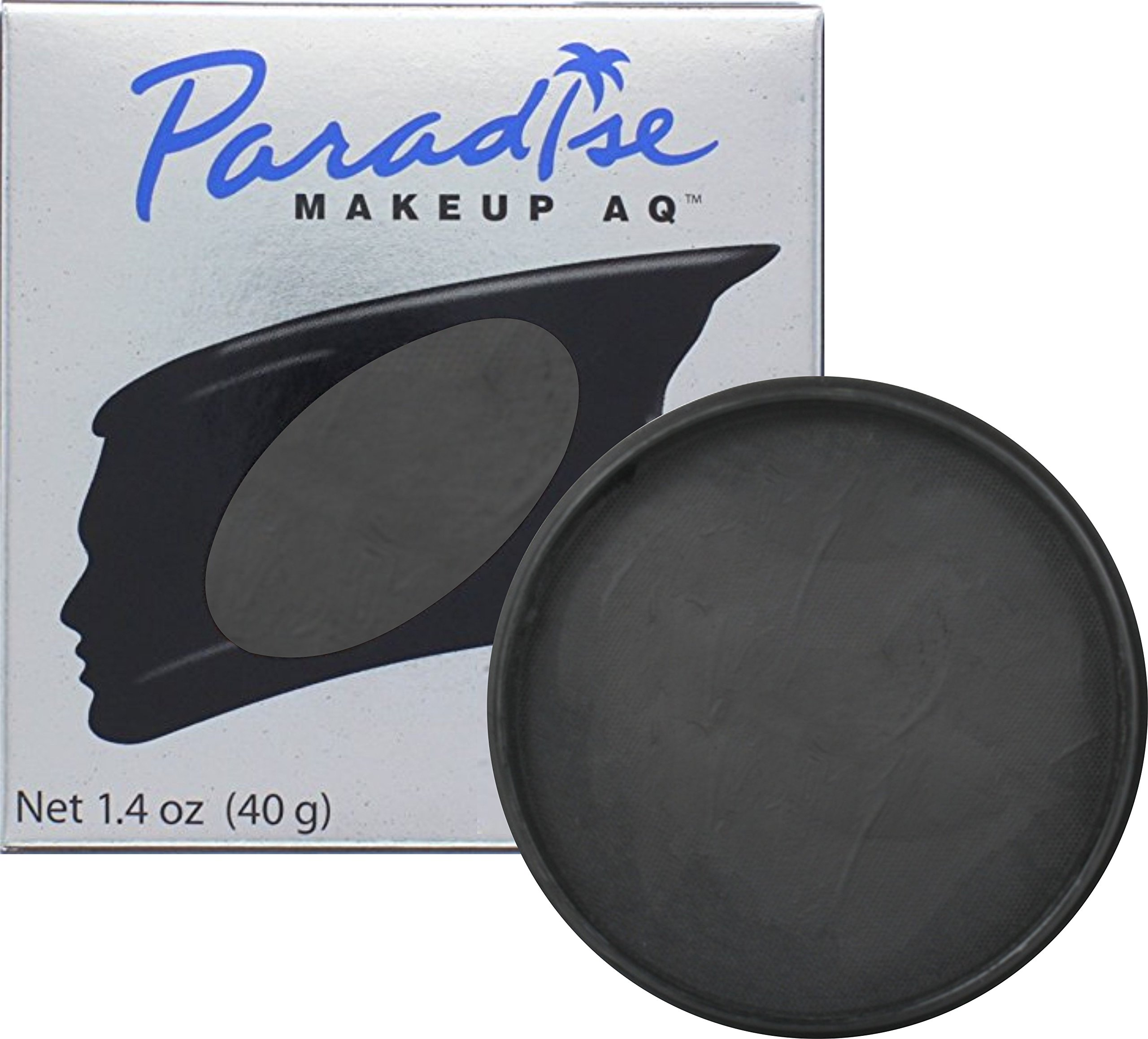 Mehron Makeup Paradise AQ Face & Body Paint, BLACK: Basic Series – 40gm