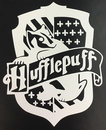 C60479 White Harry Potter Hufflepuff House Crest Symbol 65x8