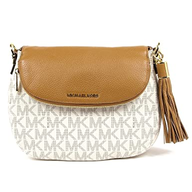 3bc8a513285be Image Unavailable. Image not available for. Color  Michael Kors Bedford  Medium Tassel Shoulder Bag Vanilla Acorn