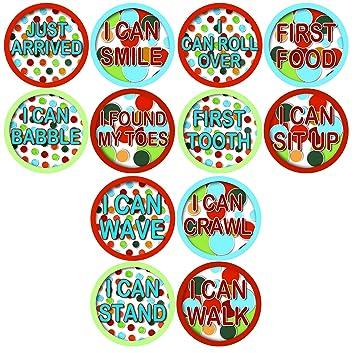 milestones baby stickers timeline of child milestones development stages stickers baby shower gift