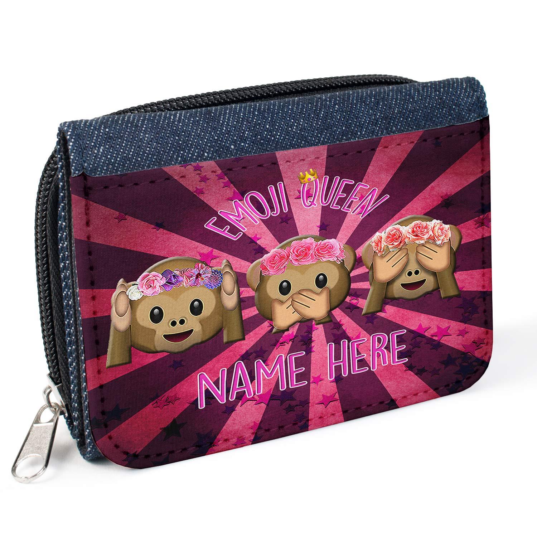 Personalizado Emoji Smiley Hipster st900 Mujer Denim Bolso Niñas Cartera de regalo * * Añade un nombre * *: Amazon.es: Equipaje