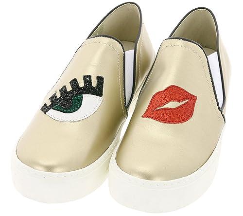 Heine - Zapatillas de Sintético para Mujer Dorado Dorado: Amazon.es: Zapatos y complementos