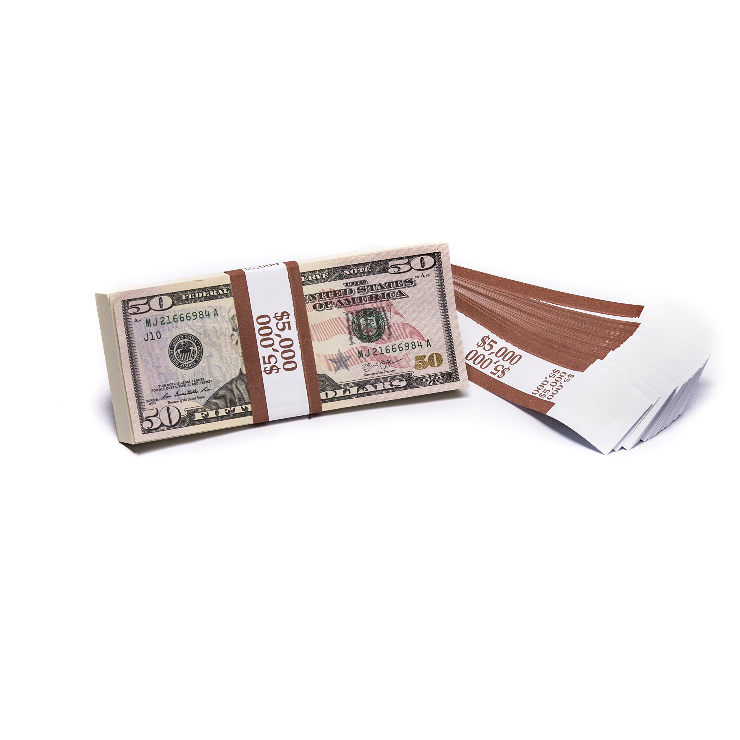 Barred ABA $5,000 Currency Band Bundles (10,000 Bands) by Carousel Checks Inc.