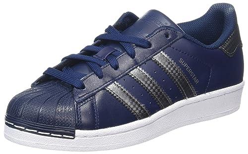 best loved ac5c8 5320f Adidas Superstar J - Scarpe Sportive Unisex, Blu (Maruni   Nocmét   Maruni)