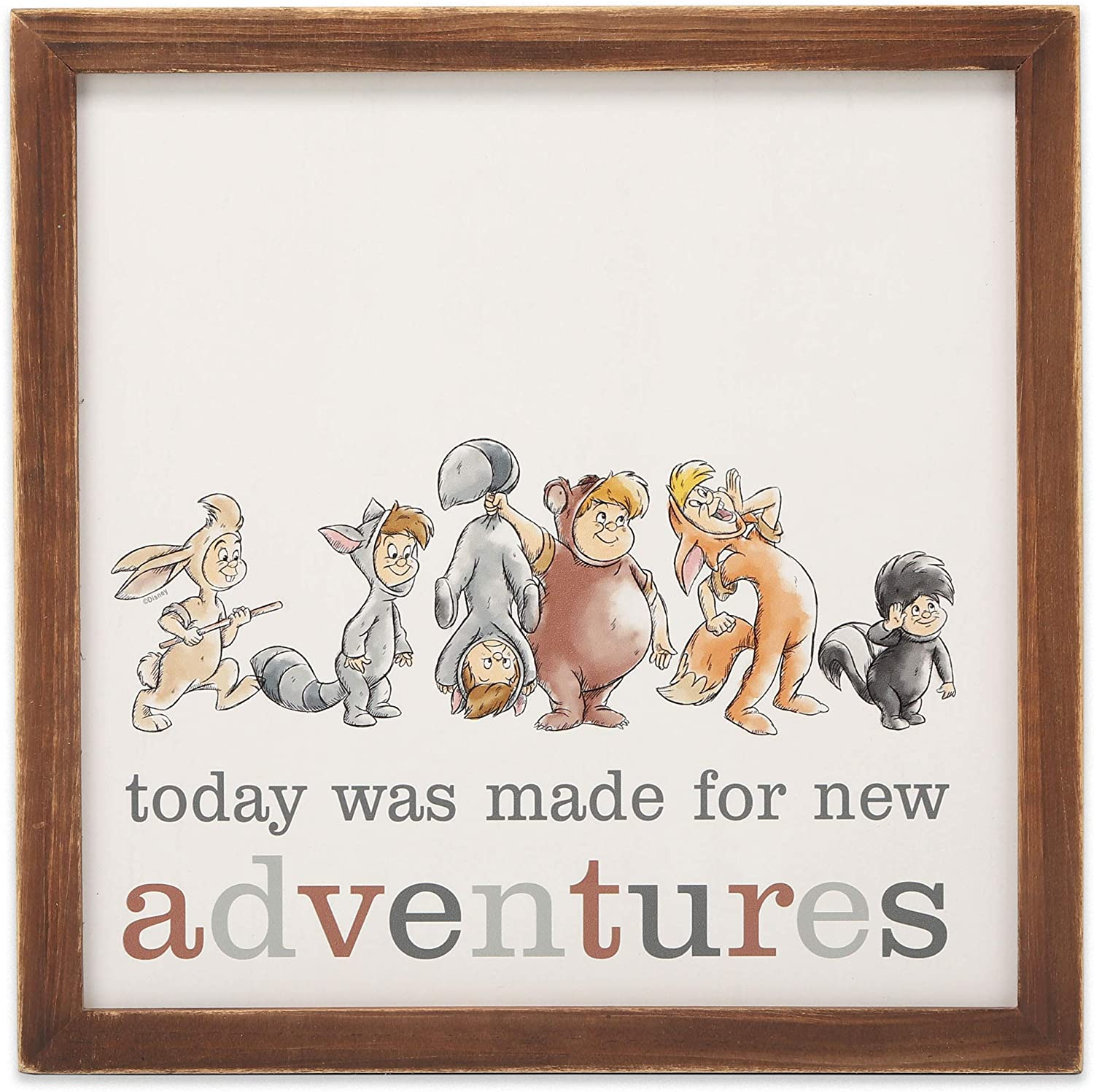 Open Road Brands Disney Peter Pan Lost Boys Made for Adventures Wood Wall Decor for Play Room, Kids' Bedroom, or Nursery