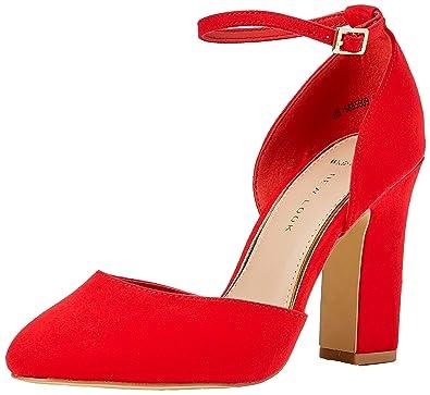 f11c49d8e9 New Look Women's Wide Foot Rachel Closed Toe Heels (Bright Red 60 ...