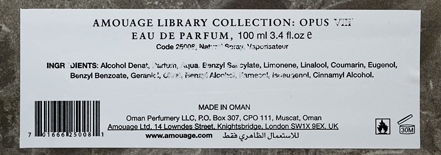 b7fef2279 Amouage Library Collection Opus VIII by Amouage for Unisex - Eau de Parfum, 100  ml: Amazon.ae: DiscountPerfumeWorld