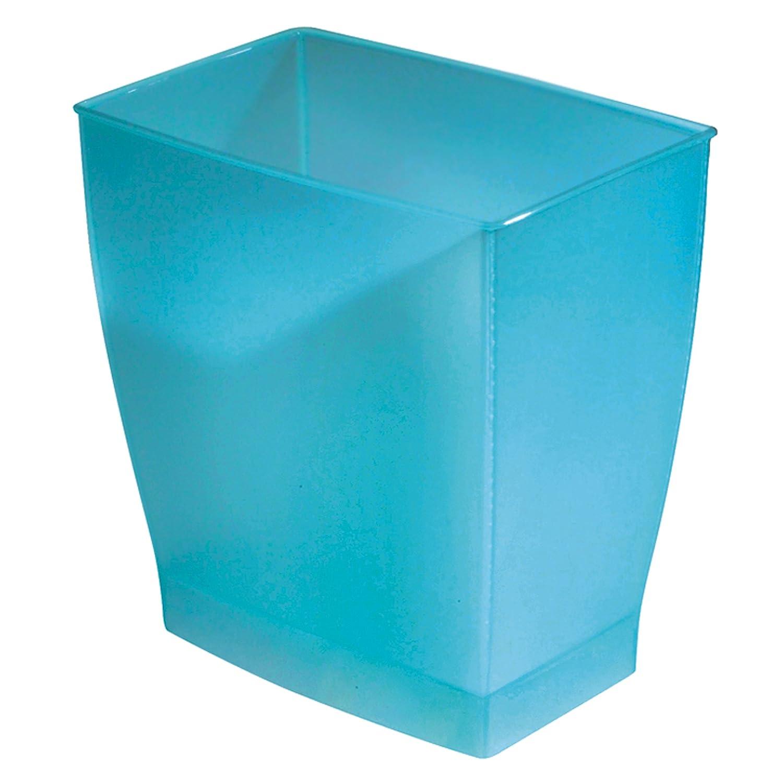 InterDesign Mono Wastebasket Trash Can for Bathroom, Kitchen, Office ...