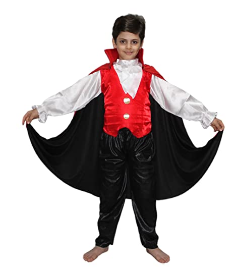 50d63e0c1 Image Unavailable. Image not available for. Color: Kaku Fancy Dresses Red & Black  Kids Vampire Dracula Costume for Halloween/California/Cosplay