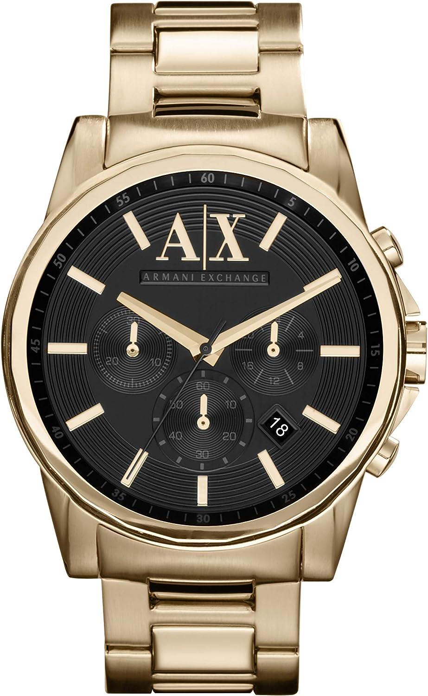 A:X Armani Exchange Mens Gold Chronograph Bracelet Wat