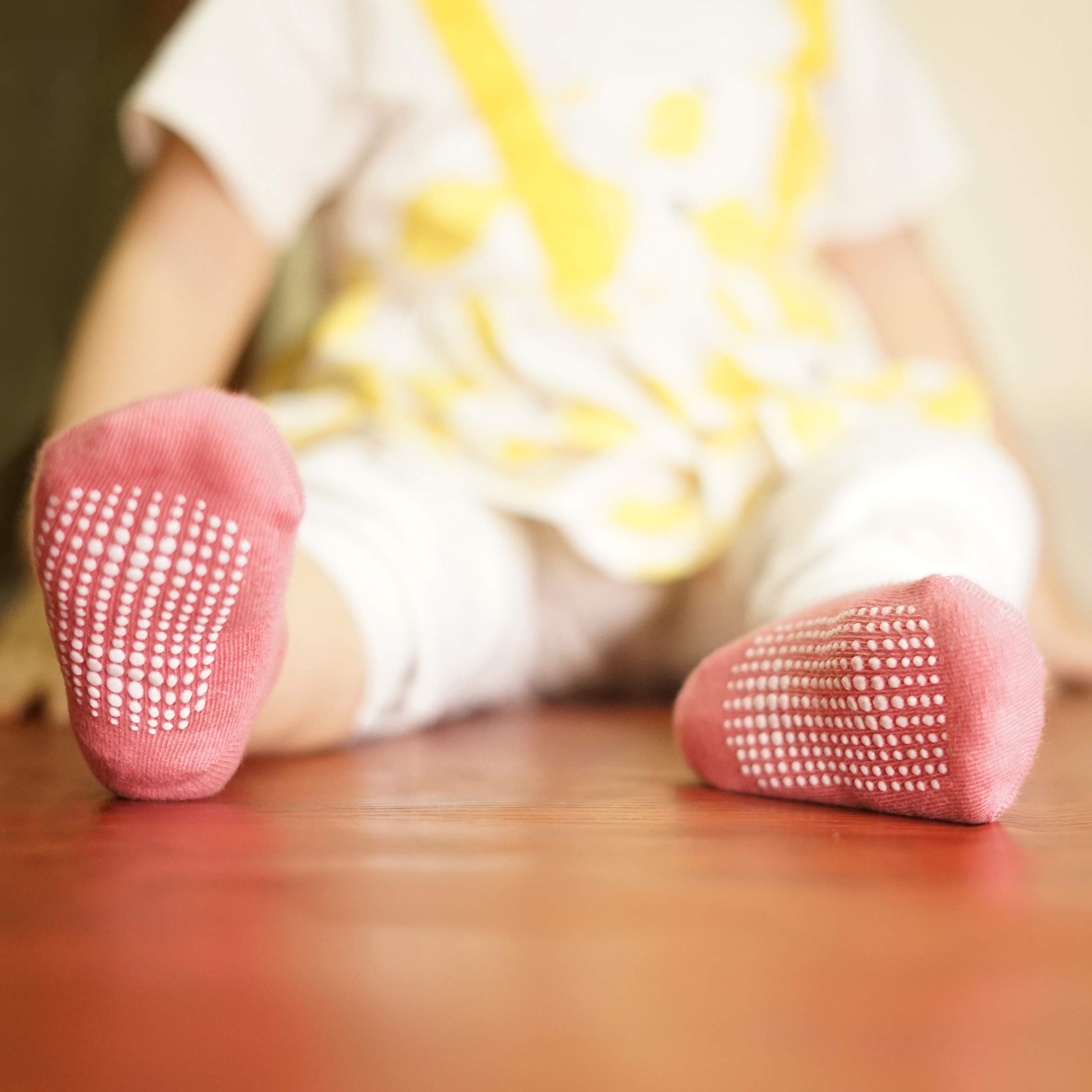 CozyWay Baby Grip Ankle Socks - Pairs of 12 - Non Slip Anti Skid Baby Infants Toddlers Boys Girls Unisex