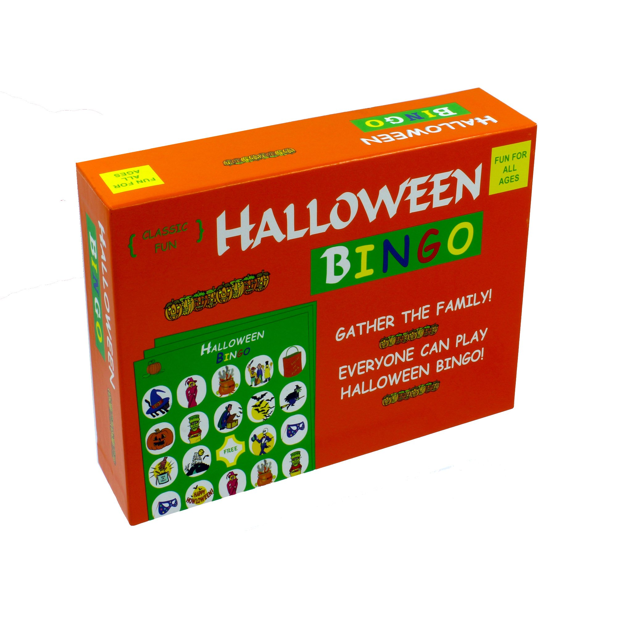 Halloween Bingo - the perfect Halloween Party Game - The Original Halloween Bingo Game with Halloween-themed pieces for a fun-filled Halloween House Party! by Anton Publications
