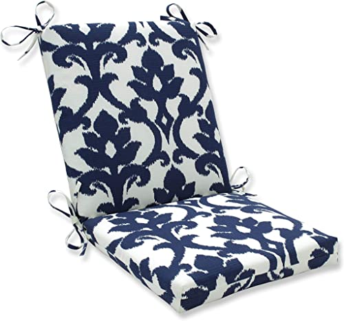 Pillow Perfect Outdoor/Indoor Basalto Navy Square Corner Chair Cushion